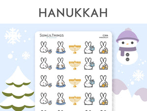 (C306) Hanukkah Stickers