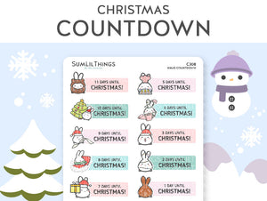 (C308) Christmas Countdown Stickers