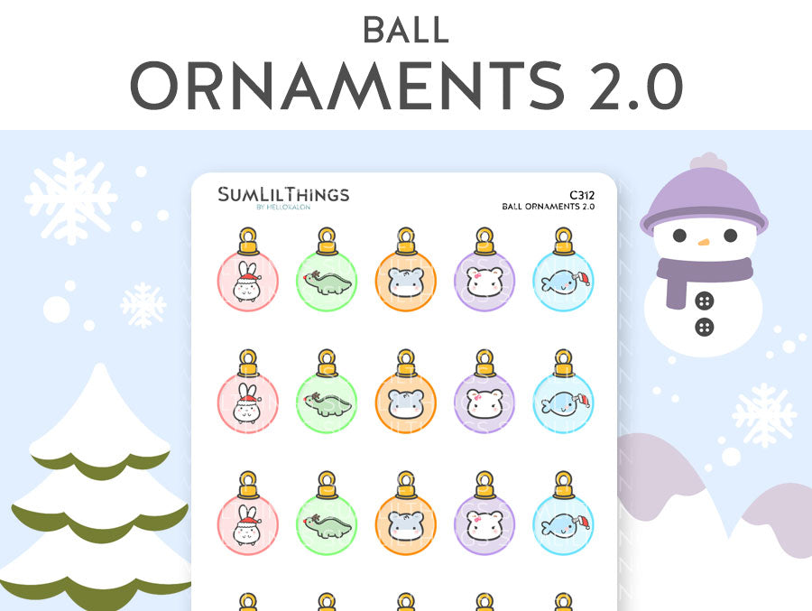 (C312) Lil Ornaments Balls 2.0 Stickers