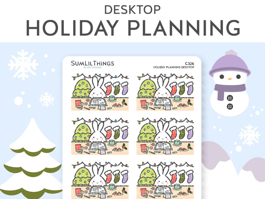 "(C326) Holiday Planning Desktop 1.5"" Stickers"
