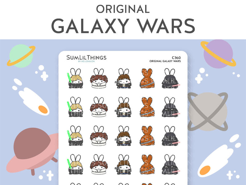 Original Galaxy Wars Stickers