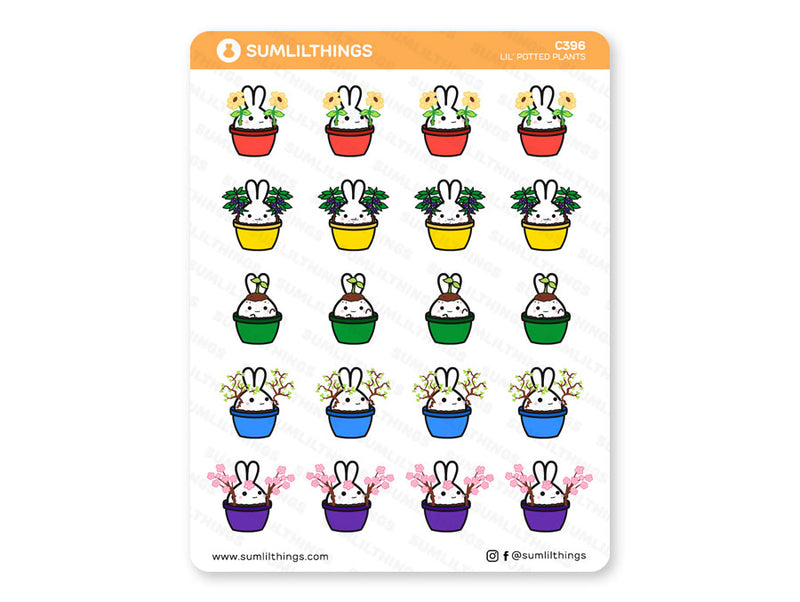 Lil' Potted Plants // Plants Stickers