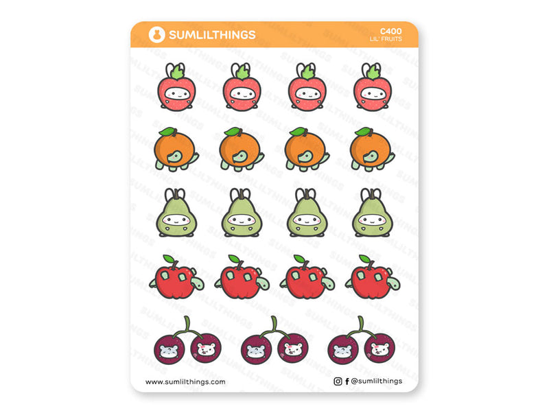 C400 - Lil' Fruits // Fruits Stickers