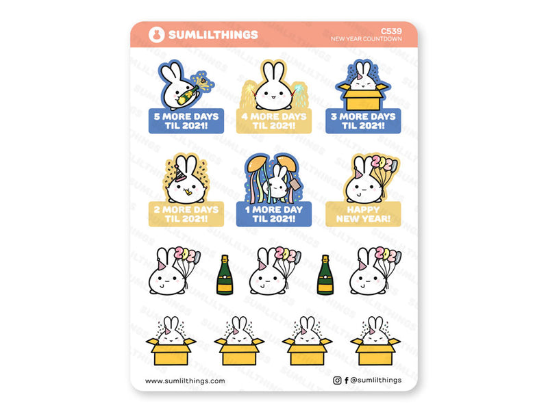 C539 - New Year Countdown Stickers