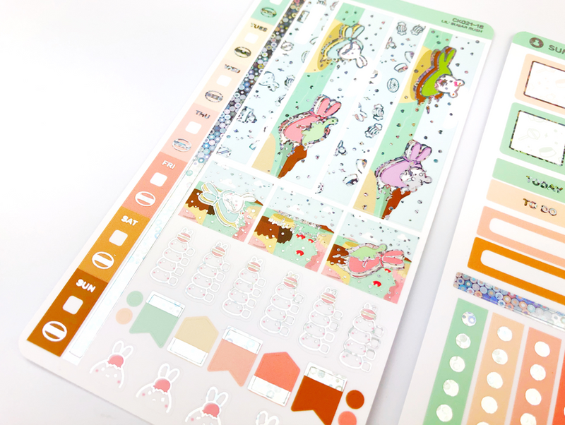 CK021 - Sugar Rush - SILVER BUBBLE FOILED - Hobonichi Weeks Kit || July Subscription