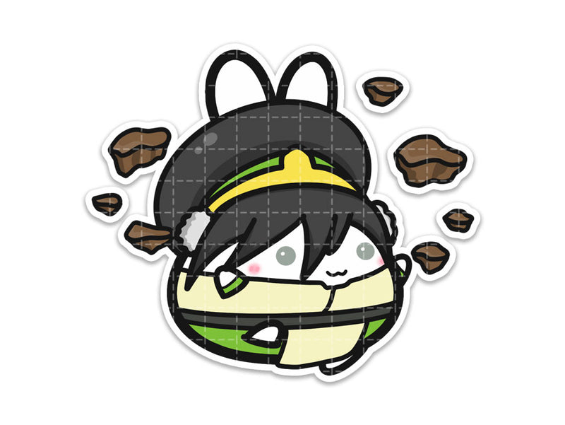 Lil' Toph Vinyl Sticker // Avatar