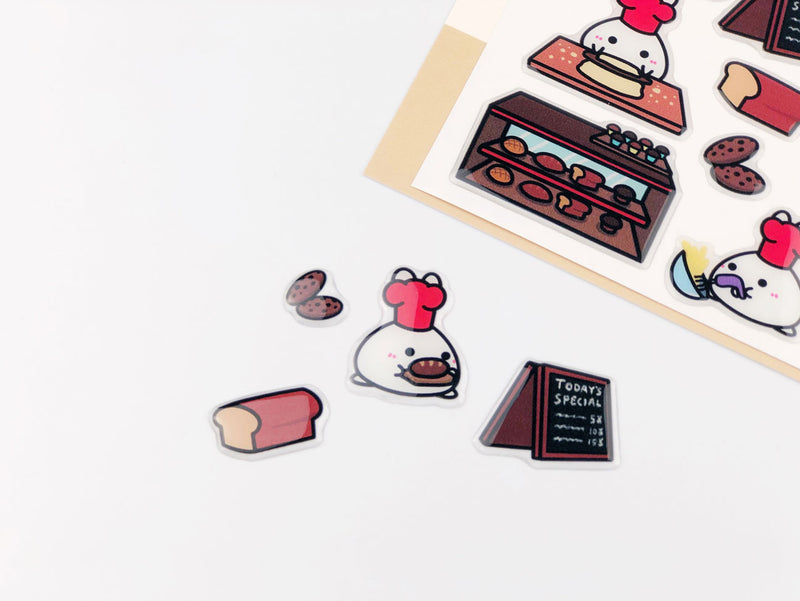 Toasted Buns - Bubble Stickers || August Subscription