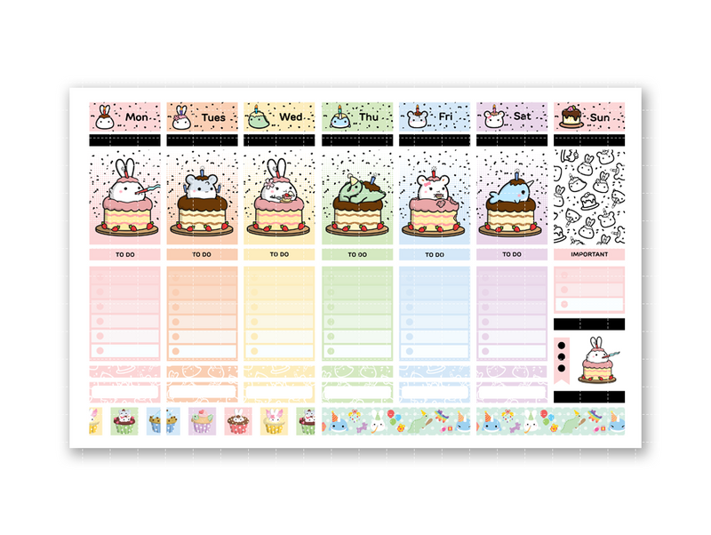 Lil' Celebration - GOLD FOILED - Sticker Kit (12 Pages)