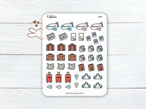 Kawaii Travel Stickers (D027)