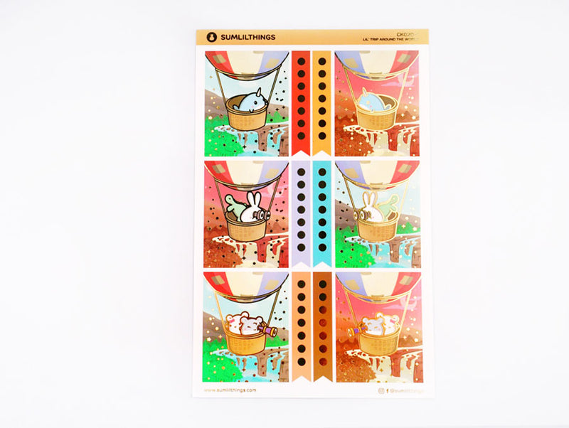 CK020 - Trip Around the World - GOLD FOILED - Deco Kit (9 Pages) || June Subscription