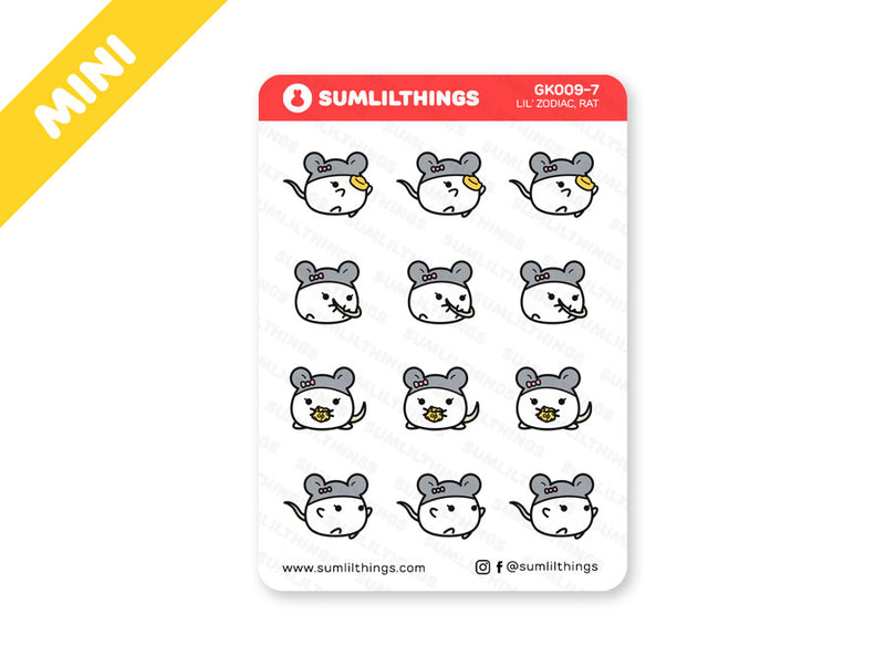 GK9.7 - Year of the Rat Stickers - Mini Sheet