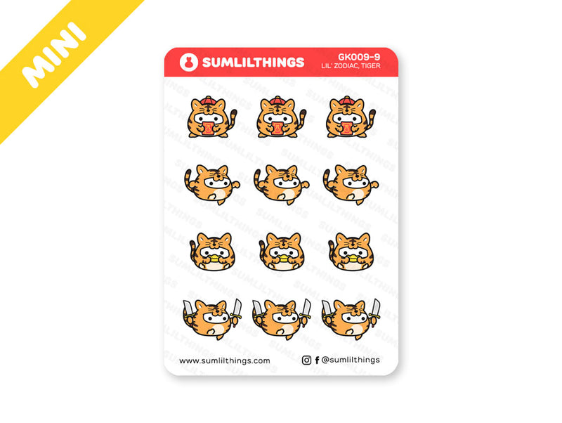 GK9.9 - Year of the Tiger Stickers - Mini Sheet