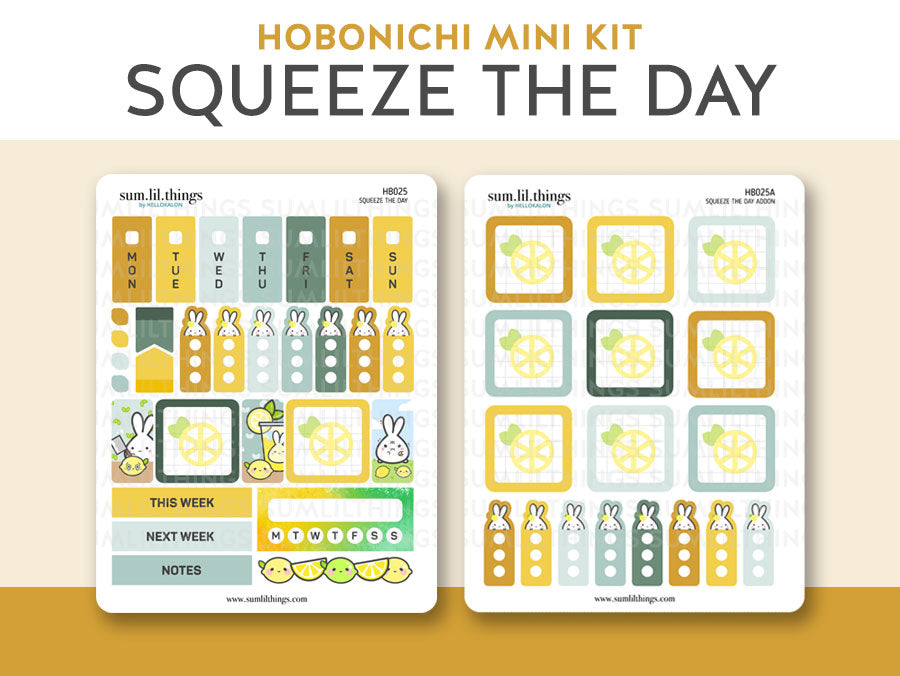 (HB025) Squeeze the Day Hobonichi Weeks Mini Kit