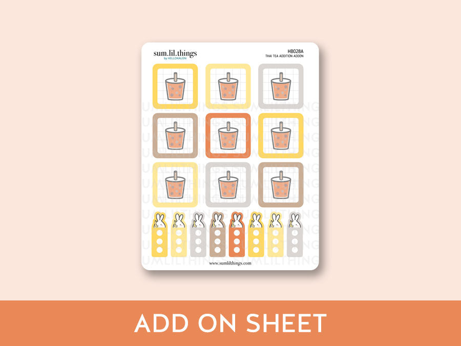 (HB028) Thai Tea Addiction Hobonichi Weeks Mini Kit
