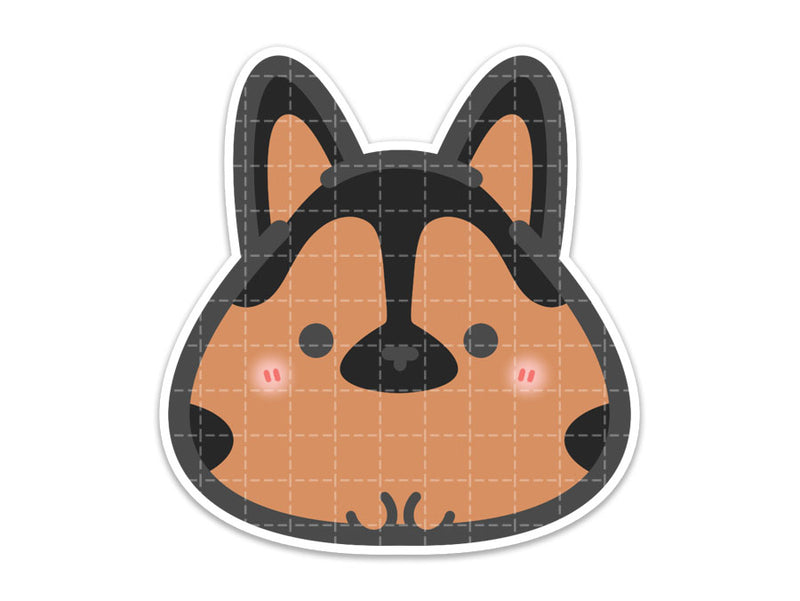 Lil' German Shepherd Vinyl Sticker // Inugiri