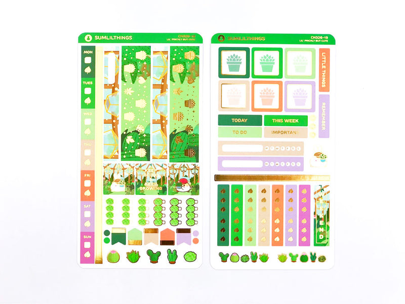 CK026 - Prickly But Cute Kit // Hobonichi Weeks