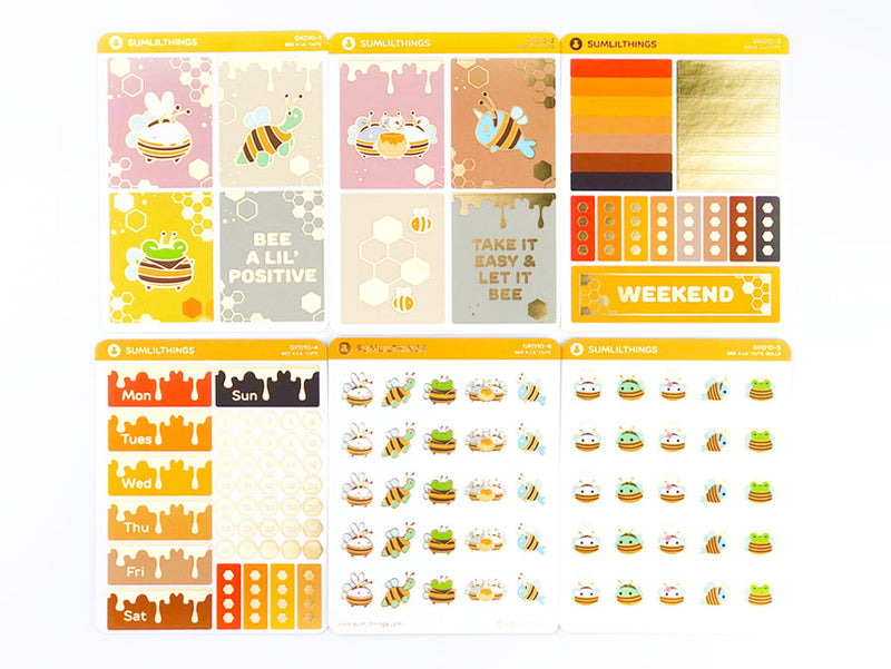 GK010 - Bee A Lil' Cute (6 Pages) // Deco Kit