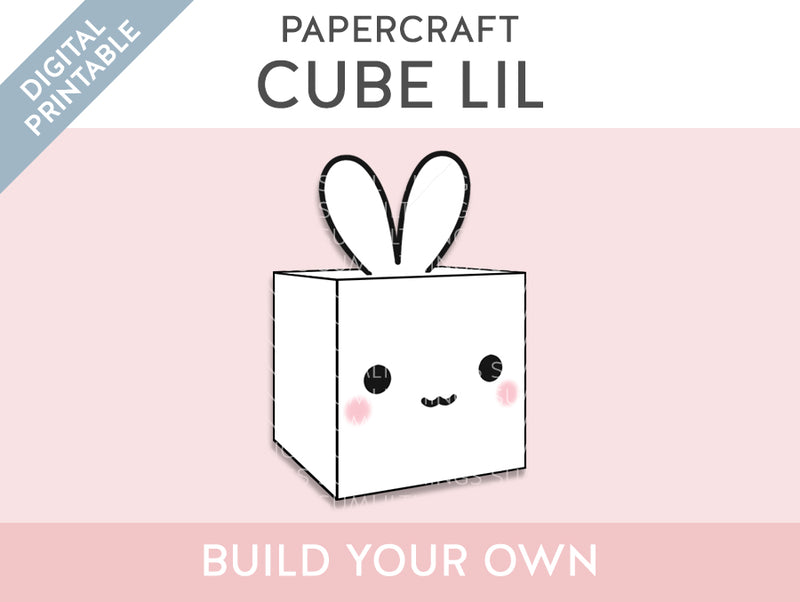 【Digital Product】Lil Cube Papercraft