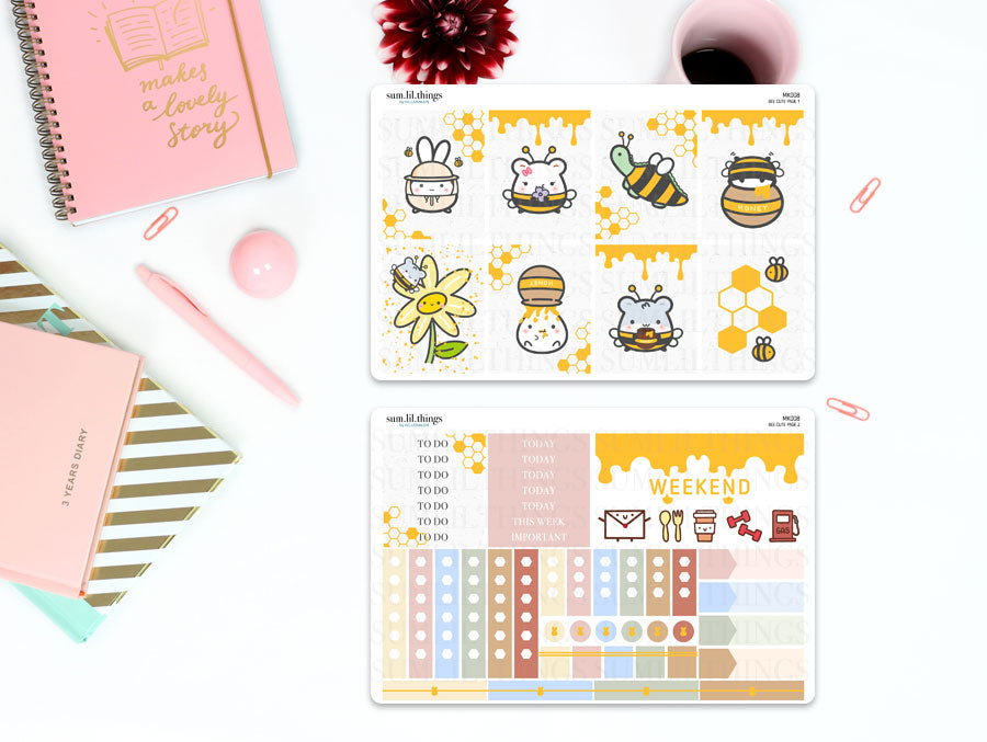 (MK008) Gold Foiled Bee Cute Mini Kit