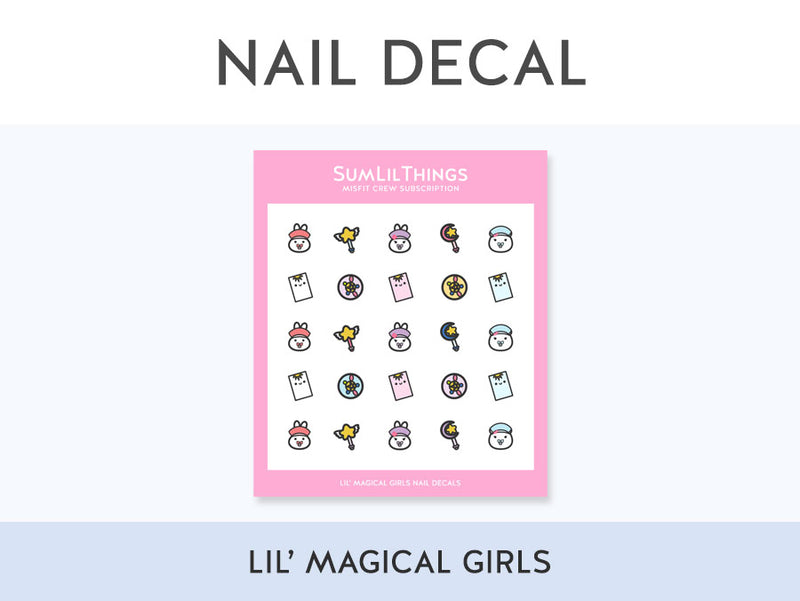 (ND002) Lil' Magical Girls Nail Decal