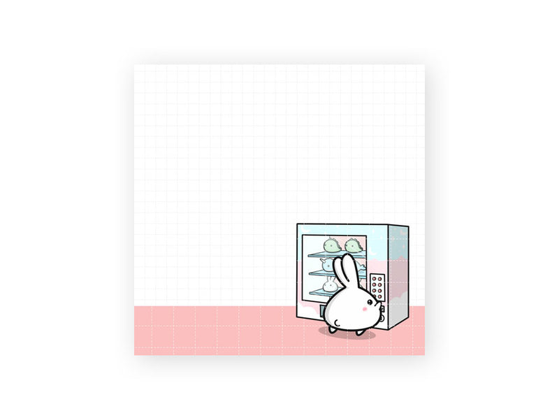 "Vending Machine 3x3"" Sticky Note Pad (50 sheets)"