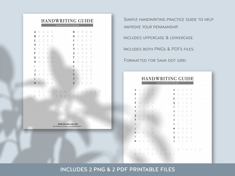 【Digital Product】Printed Handwriting Practice Guide