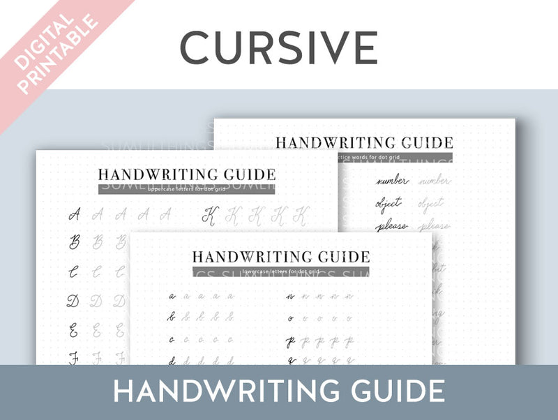 【Digital Product】Cursive Handwriting Practice Guide