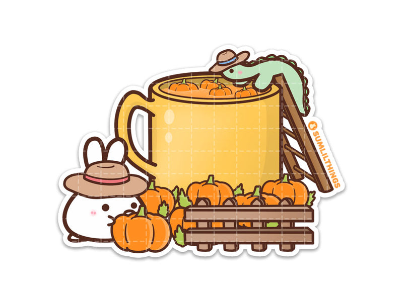 Pumpkin Latte Factory Vinyl Sticker