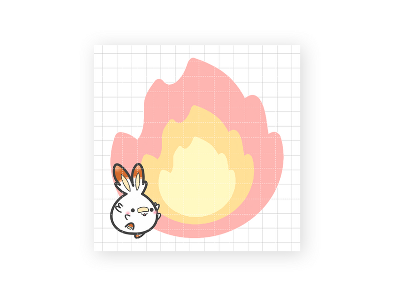 "Scorbunny 3x3"" Sticky Note Pad (50 sheets)"