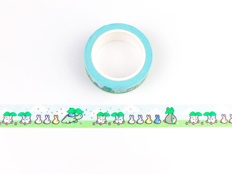 Lil Totoro Washi Tape - SILVER FOILED