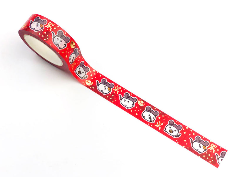 Lil' Chinese Zodiac Washi Tape (Year of the Rat) - GOLD FOILED