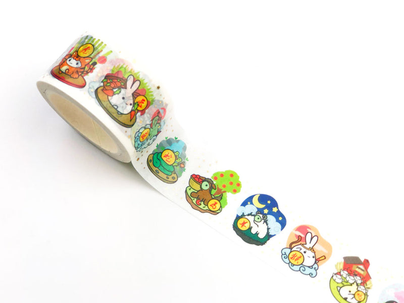 Lil' Chinese Zodiac Washi Tape (25mm) - GOLD FOILED