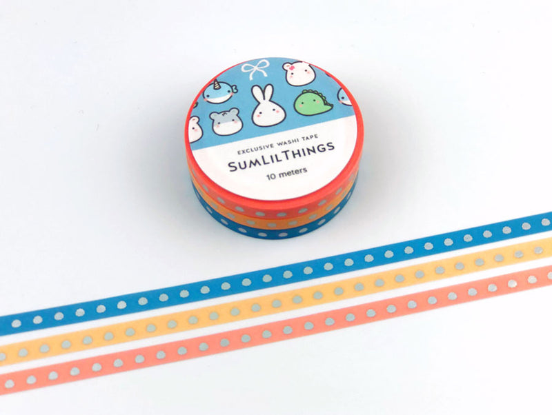 Lil' Summer Time Washi Tape - HOLO FOILED || Set of 5