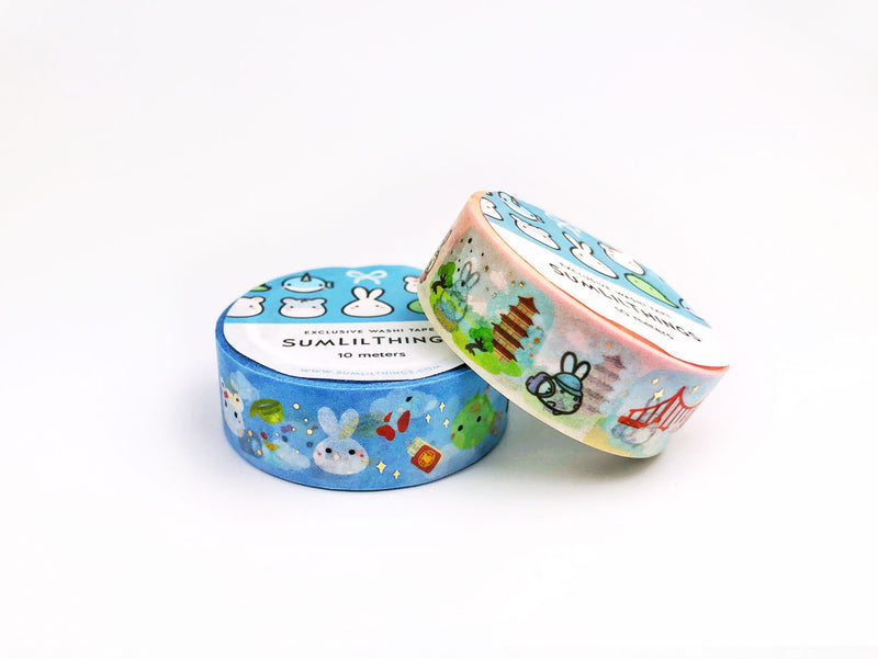 Trip Around the World Washi Tape - GOLD FOILED || June Subscription