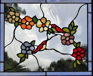 """2 Tiny Birds"" Stained Glass"