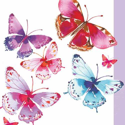 Aquarell Butterflies Dinner Napkins