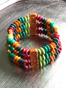 Beach Bracelet - Rainbow Stretch Bracelet