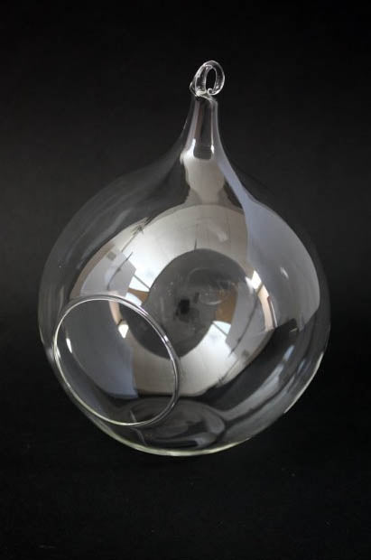 Round Glass Tea Light Holder