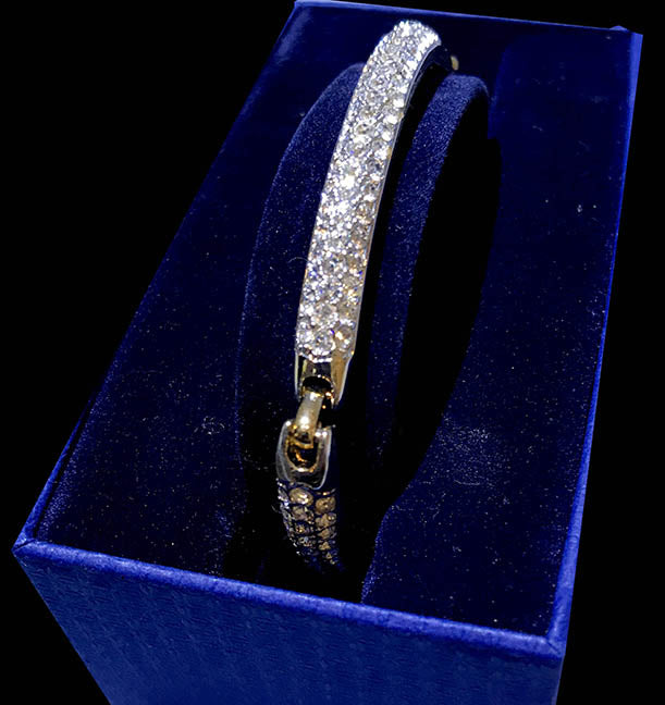 Havy Setting Gold & Crystal Bracelet by Swarovski