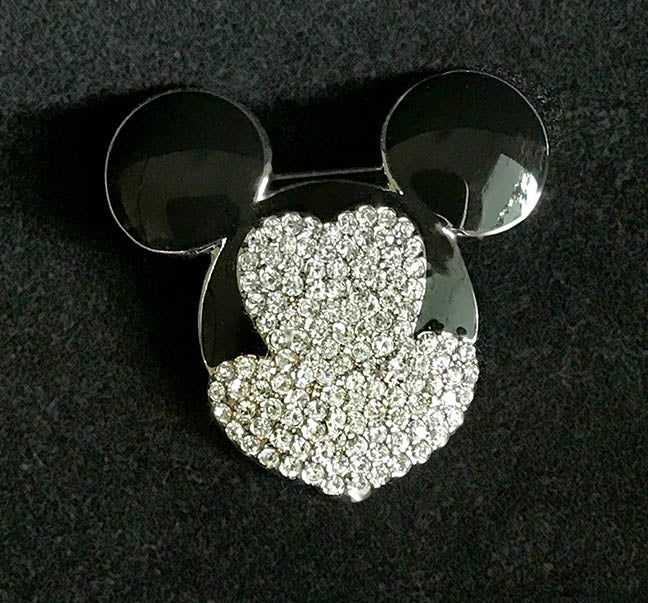 Disney Mickey Mouse Pin Pave Brooch by Swarovski