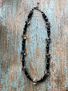 Black & Gold Beaded Necklace