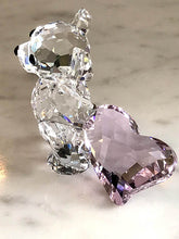"Swarovski Kris Bear -""With You"" Dragging Heart Behind Him -Item 905386"