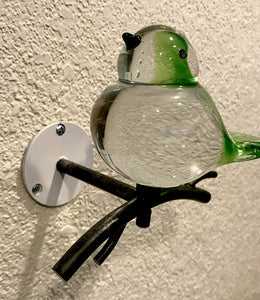 Hand Blown Glass Bird Wall Art - Dale Tiffany - Red or Green