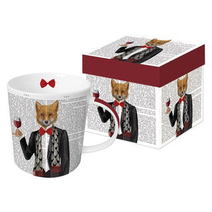 "Gift Boxed Porcelain Mug - ""Lord Philip"" by PAPAYA Art"