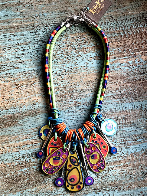 Rainbow Bibb Statement Necklace - Rainbow Series by Treska