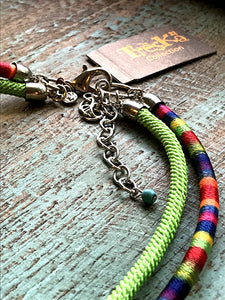 Rainbow Cord Pendant Necklace - Rainbow Series by Treska