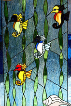 Seahorses - Stained Glass