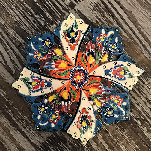Handmade Ceramic Trivet (Hot Pot Plate) - Item T6