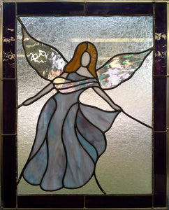 Floating Angel - Stained Glass