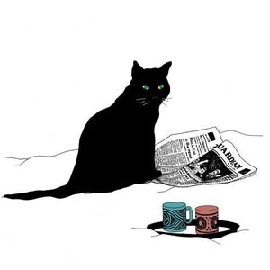 Black Cat Journal Dinner Napkins